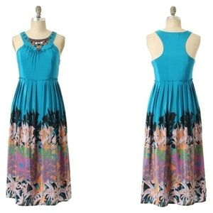 Anthropologie Blue Island Nightfall Maxi Dress
